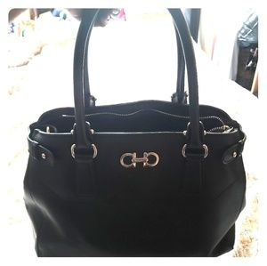 Authentic Ferragamo top handle bag